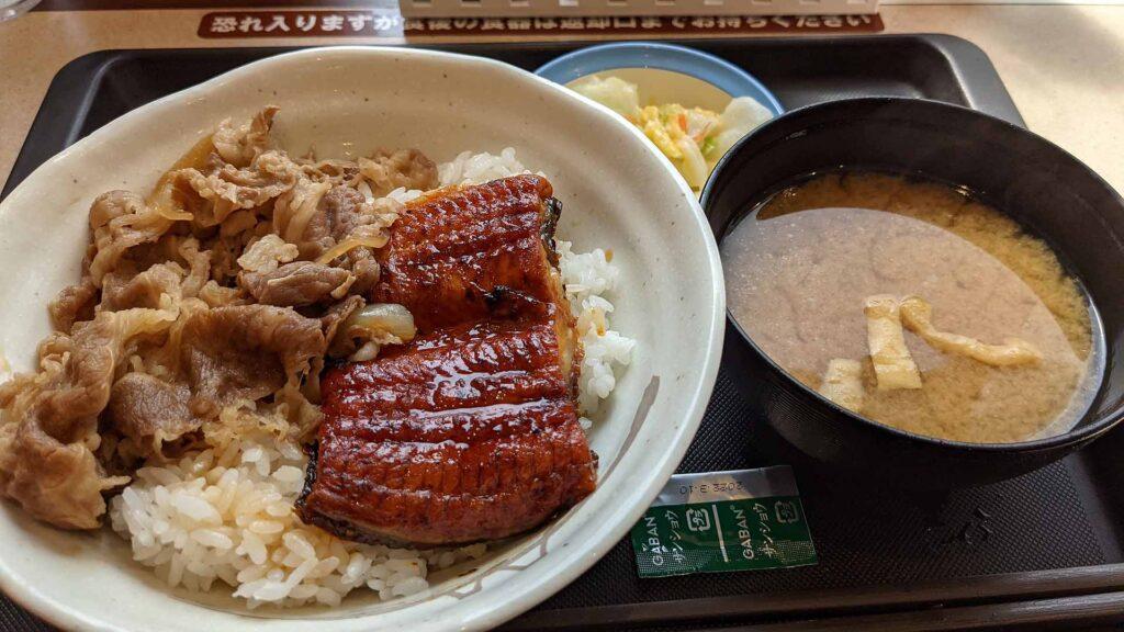 松屋「春のうなぎ祭り」2021(うなぎコンボ牛めし)